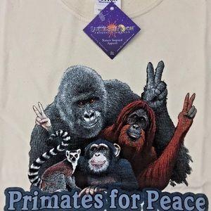Primates T-shirt (Unisex cut) Primates For Peace!